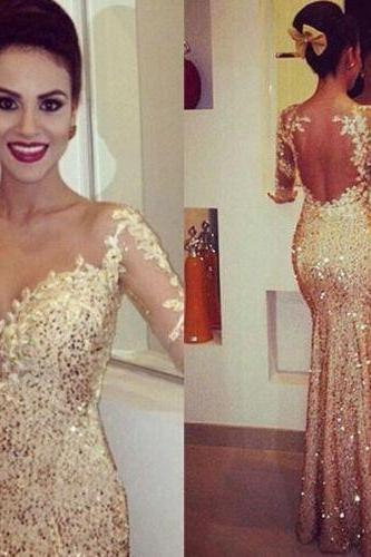 Golden Sexy One Shoulder Sequins Mermaid Long Prom Dresses Formal Evening Party Dress Ball Gown Custom Plus Size